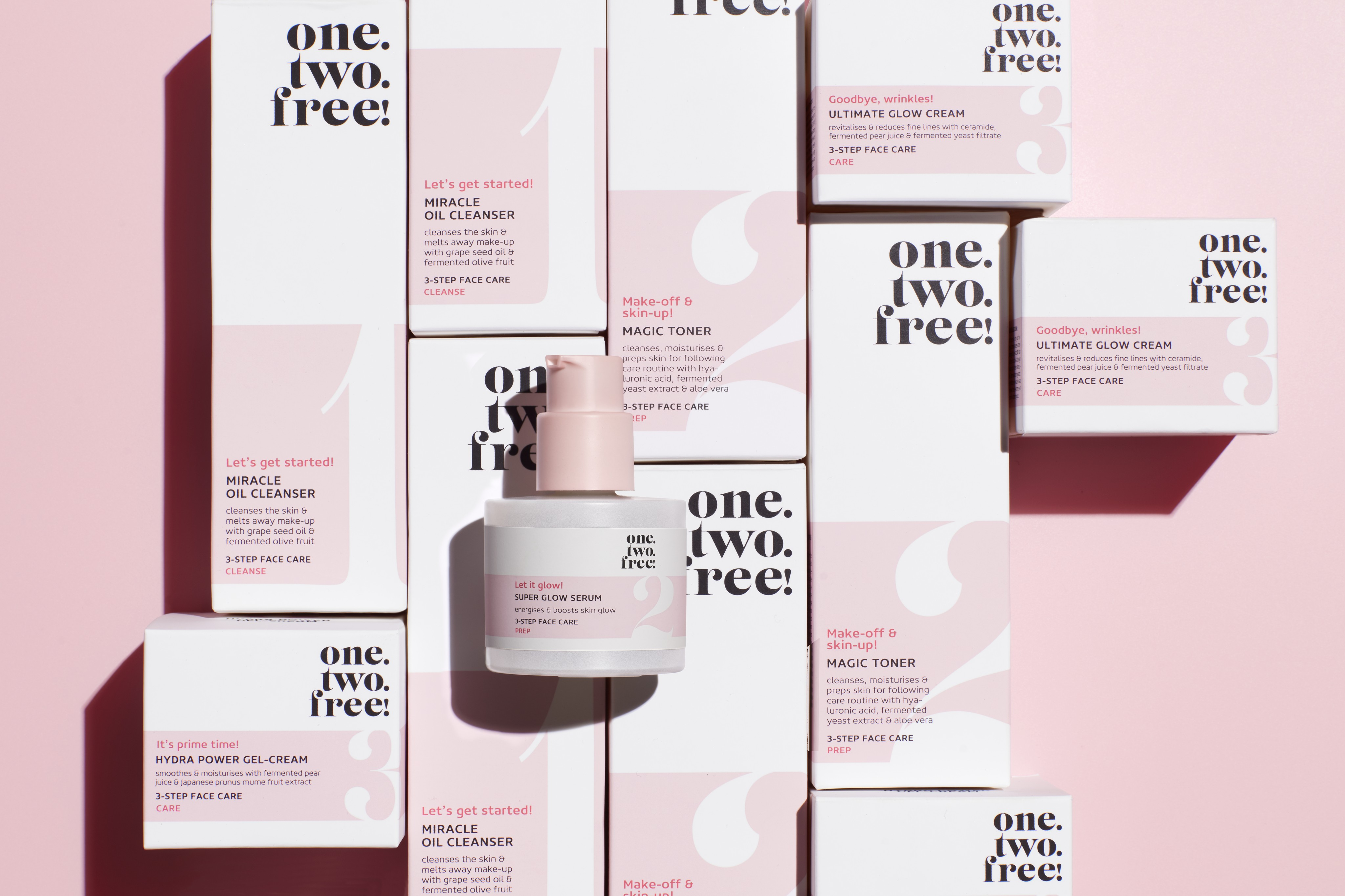 Skincare-product-one-two-free-all-products-glow-serum-focus-clean-pink-shadow-unlimited-Web-Rendition