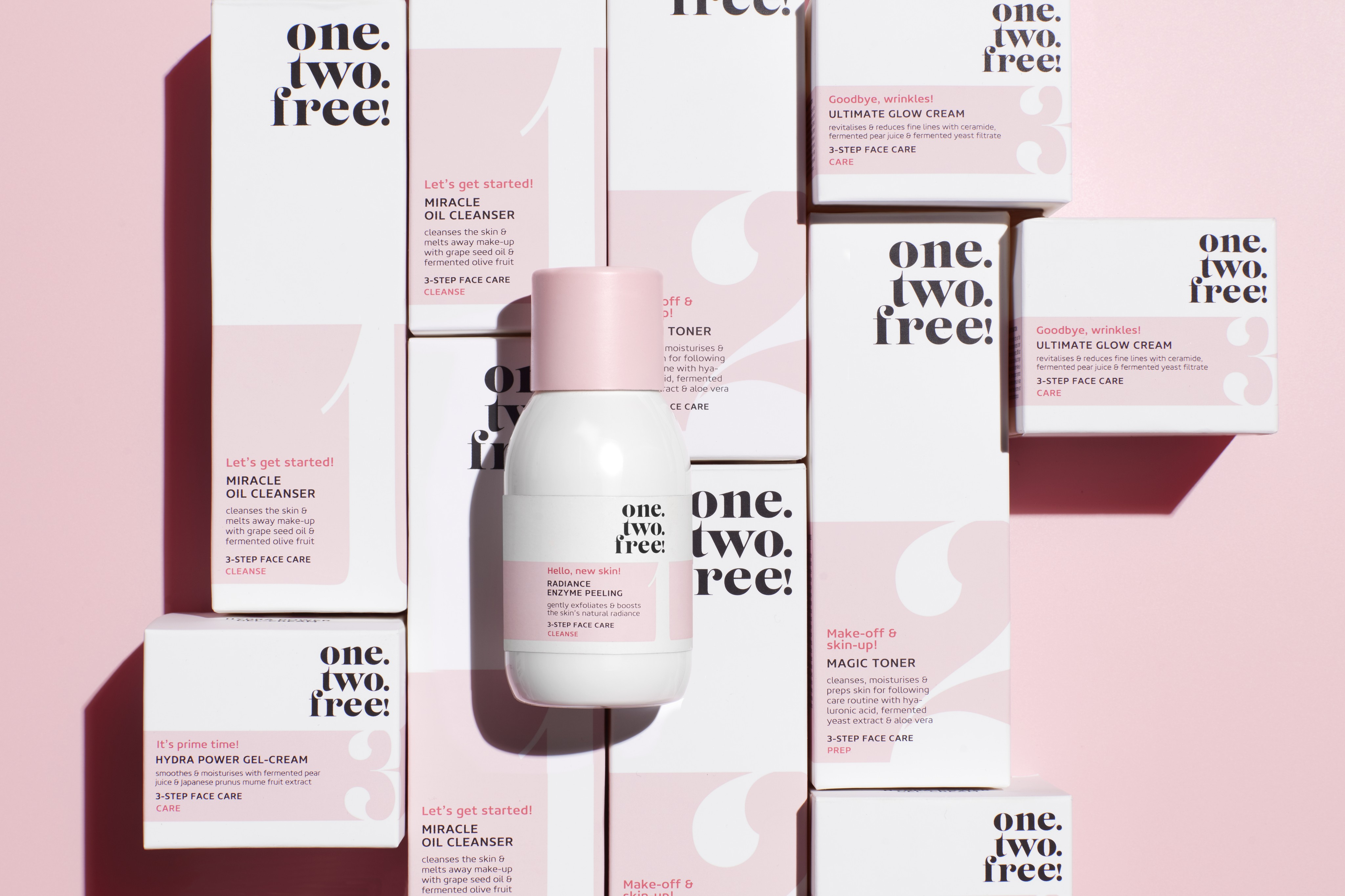 Skincare-product-one-two-free-all-products-peeling-focus-clean-pink-shadow-unlimited-Web-Rendition