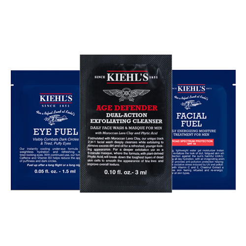 Kiehl's Man vzorečky (Eye Fuel, Age Defender, Facial Fuel)